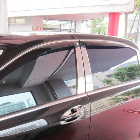 ベンツ Sクラス W221 ロング/ショート共通 鏡面ステンレスピラーモール 6枚SET 商品番号0829