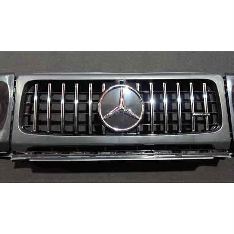 ベンツ Gクラス W463A G63スタイルパナメリカーナグリル+ヘッドライトカバー 未塗装品 商品番号4581