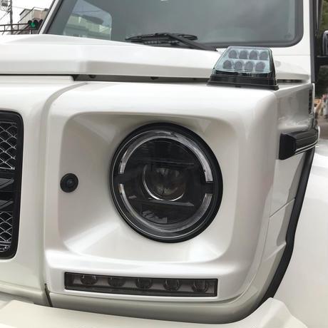 ベンツGクラス W463 ゲレンデ バイキセノン車用 2019yスタイル ヘッドライトケース インナーブラック 商品番号4365