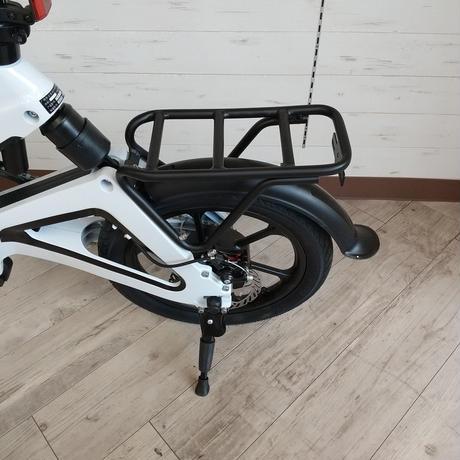 電動 折りたたみ 自転車 耐荷重150kg 充電式 ホワイト 商品番号4461