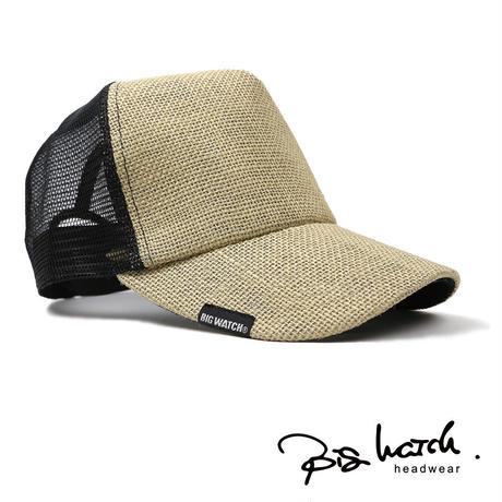 大きいサイズ メンズ 帽子 L XL BIGWATCH正規品 無地 ヘンプキャップ ベージュ CPM-26 春 夏 秋 UVケア