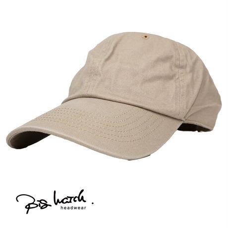 大きいサイズ BIGWATCH正規品 メンズ 帽子 コットンキャップ ベージュ 6パネルキャップ TCP-15