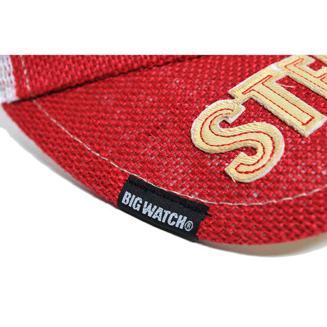 SBH-03 ヘンプサンバイザーBIGWATCH レッド/ホワイト