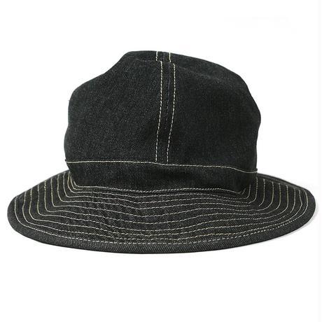 HA-30 デニムメトロハットBIGWATCH ブラック 黒  大きいサイズ 帽子