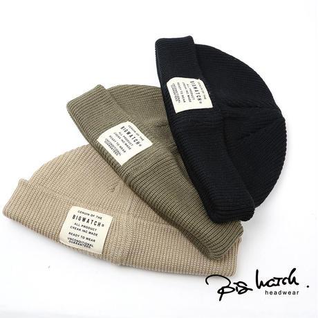 大きいサイズ メンズ 帽子 L XL ショートワッチ BIGWATCH ビッグワッチ 正規品 黒,ベージュ,カーキ ニット帽 ニットキャップ THG-03,04,05