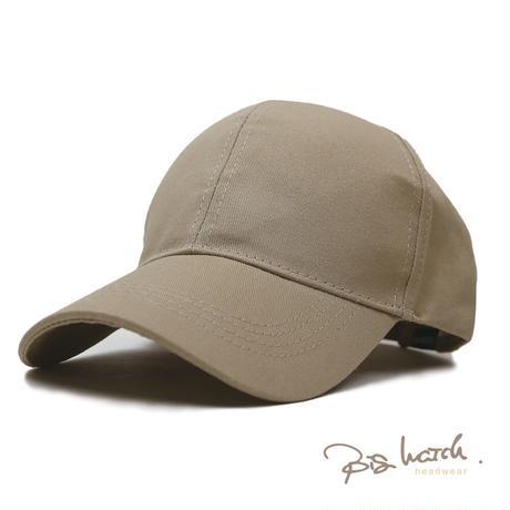 大きいサイズ レディース 帽子 L XL 男女兼用 無地 6パネルキャップ グレージュ BIGWATCH ビッグワッチ ベージュ キャップWC-01 春 夏 秋 UVケア