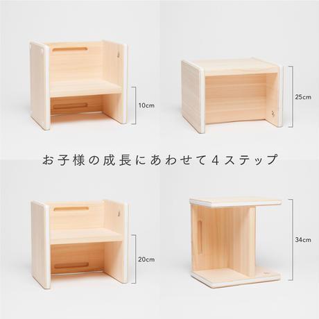 こどもキッチンステップ×小さなレディのエプロンドレスセット(ヒノキのまないた付き)送料無料
