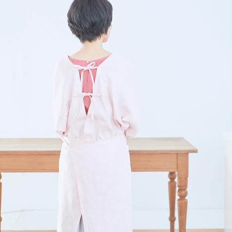ancienne×wrap around R.   麻の割烹着(送料無料)