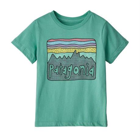 Patagonia(パタゴニア) ベビー・フィッツロイ・スカイズ・オーガニック・Tシャツ #60419 Light Beryl Green (LBYG) 【131-ptskiest】