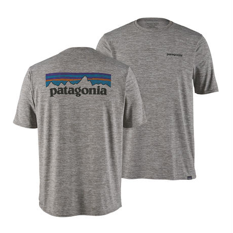 Patagonia(パタゴニア) メンズ・キャプリーン・クール・デイリー・グラフィック・シャツ #45235 P-6 Logo: Feather Grey (PLFE)