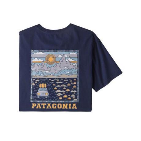 Patagonia(パタゴニア) メンズ・サミット・ロード・オーガニックティー #38537   Classic Navy  (CNY)