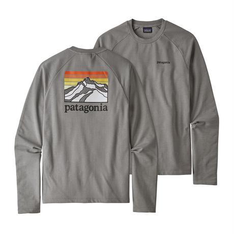 Patagonia(パタゴニア) メンズ・ライン・ロゴ・リッジ・ライトウェイト・クルー・スウェットシャツ #39568 Feather Grey (FEA)