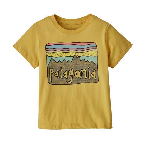 Patagonia(パタゴニア) ベビー・フィッツロイ・スカイズ・オーガニック・Tシャツ #60419   Surfboard Yellow (SUYE) 【131-ptskiest】