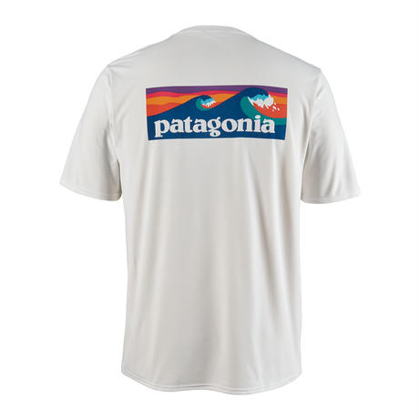 Patagonia(パタゴニア) メンズ・キャプリーン・クール・デイリー・グラフィック・シャツ #45235 Boardshort Logo: White (BOLW)