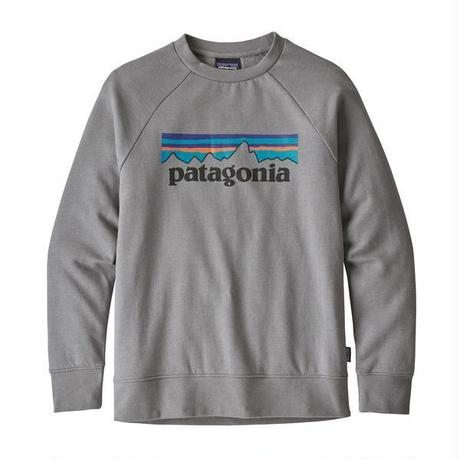 Patagonia(パタゴニア)  キッズ・ライトウェイト・クルー・スウェットシャツ #63015 P-6 Logo: Feather Grey (PLFE)