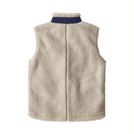 Patagonia(パタゴニア) キッズ・レトロX・ベスト  #65619  Natural w/Classic Navy (NCV)