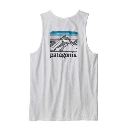 Patagonia(パタゴニア) メンズ・ライン・ロゴ・リッジ・オーガニック・タンク #38549 White (WHI)