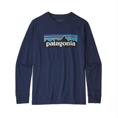Patagonia(パタゴニア) ボーイズ・ロングスリーブ・グラフィック・オーガニック・Tシャツ  #62229  P-6 Logo Classic Navy (PLCL) ■予約販売スタート!■