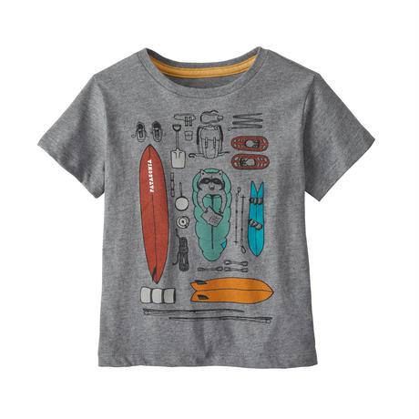 Patagonia(パタゴニア) ベビー・グラフィック・オーガニック・Tシャツ #60386 Bandito Kit: Gravel Heather (BKGH)