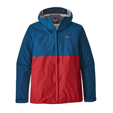 Patagonia(パタゴニア) メンズ・トレントシェル・ジャケット  #83802    Big Sur Blue w/Fire Red (BSFE)