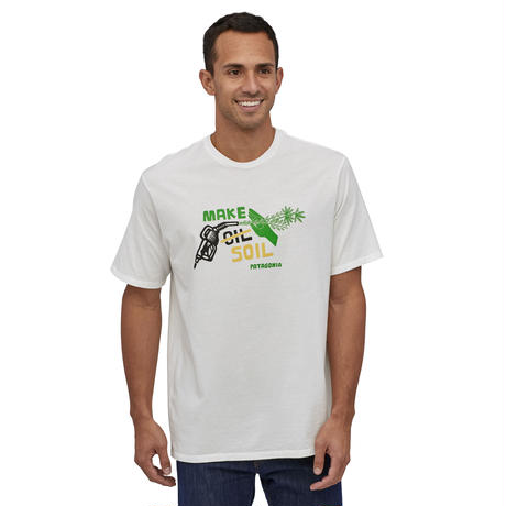 Patagonia(パタゴニア) メンズ・メイク・ソイル・オーガニック・Tシャツ #38533 White (WHI)