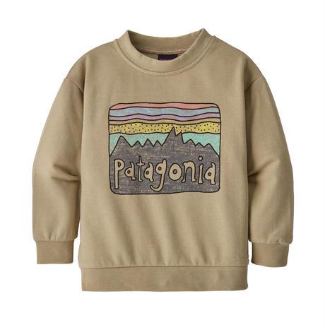 Patagonia(パタゴニア) ベビー・ライトウェイト・クルー・スウェットシャツ #60975   Fitz Roy Skies: El Cap Khaki (FRSK)