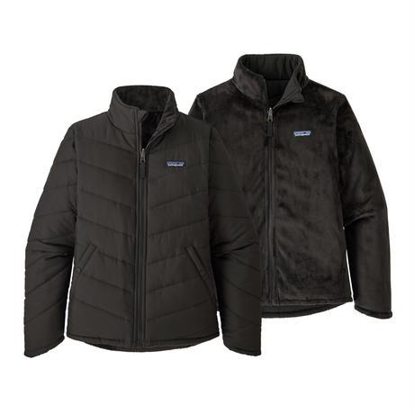 Patagonia(パタゴニア) ガールズ・リバーシブル・スノー・フラワー・ジャケット    #68050    Black (BLK) ■販売スタート!