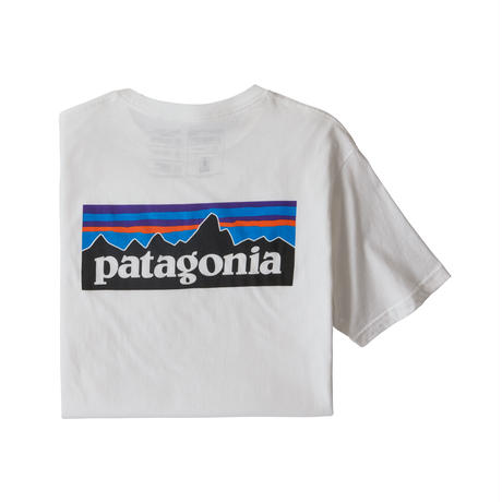 Patagonia(パタゴニア) メンズ・P-6ロゴ・オーガニックコットンTシャツ #38535 White (WHI)