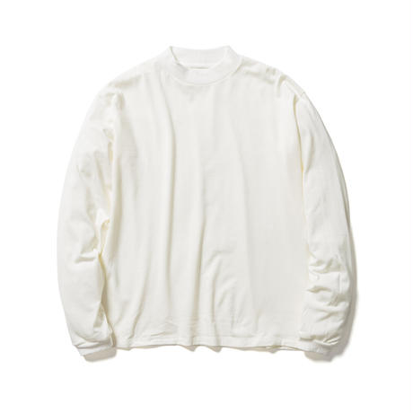 F-LAGSTUF-F × STYLIST TEPPEI / MOCK NECK L/S Tee  (white)