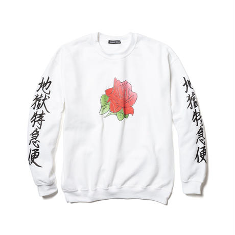 "Delivery Hells / ""地獄特急便"" SWEAT (white)"