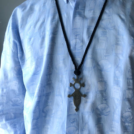 """Tuareg Sabra Silk Necklace"" (spice)"