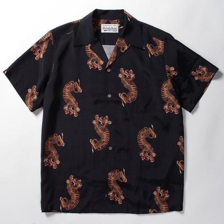 WACKO MARIA  /  hawaiian shirt (type-18)  (black)