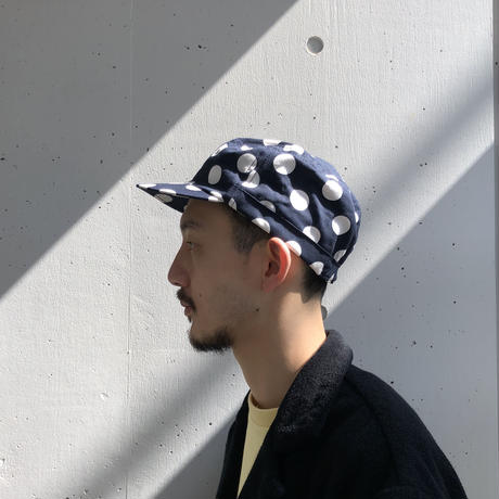 MASSES / POLKA DOT WORK CAP (navy)