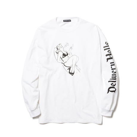 "Delivery Hells / ""$"" L/S Tee (white)"