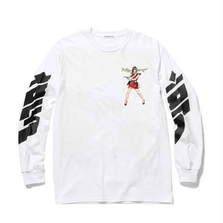 "F-LAGSTUF-F  / ""Dream and Reality"" L/S Tee3 (white)"