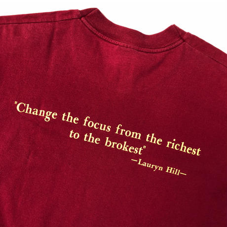 """Lauryn Hill """"THE REFUGEE PROJECT"""" Tee (spice)"""