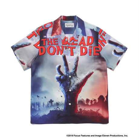 "WACKO MARIA ""JIM JARMUSCH"" 「THE DEAD DON'T DIE」HAWAIIAN SHIRT (white)"