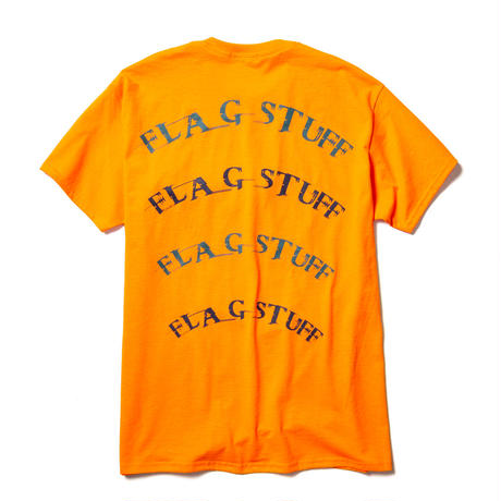 "F-LAGSTUF-F /"" Semi circle"" LOGO Tee  (orange)"