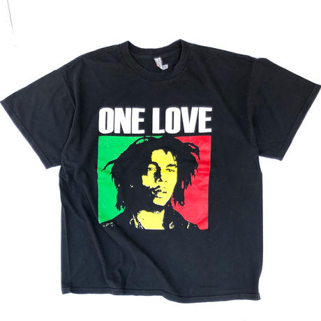 "00's BOB MARLEY "" ONE LOVE Tee ""  (spice) #A1"
