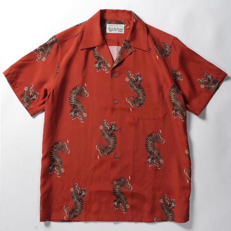 WACKO MARIA  /  hawaiian shirt (type-18)  (orange)