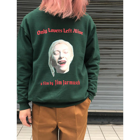 "WACKO MARIA ×JIM JARMUSCH 「ONLY LOVERS LEFT ALIVE」 ""CREW NECK SWEAT"" (green)"