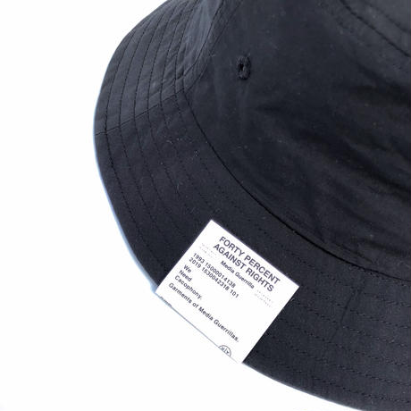 "FORTY PERCENT AGAINST RIGHTS  ""SOD BUKET HAT""  (black)"