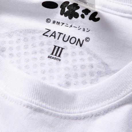 "ZATUON × 一休さん ""ZEN L/S tee "" (white)"