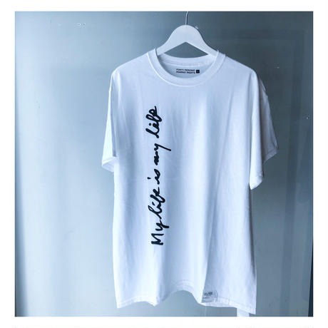 "FORTY PERCENT AGAINST RIGHTS /""My life SS Tee 07""(white)"