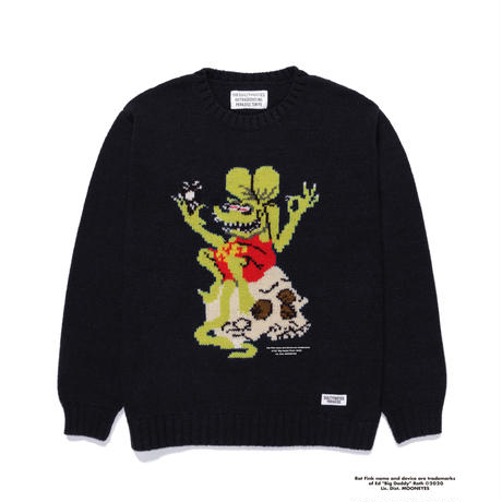 "WACKO MARIA × RAT FINK × TIM LEHI "" SWEATER "" (black)"