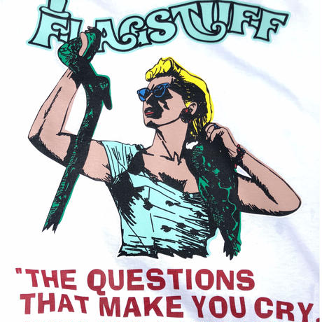 "F-LAGSTUF-F / ""QUESTION"" Tee (white)"
