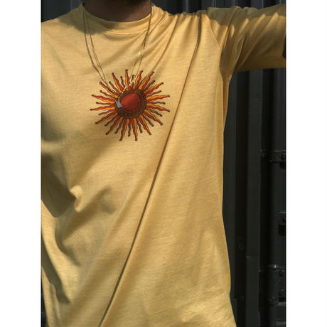 HERMES /  太陽柄 T-shirt (yellow) (spice)