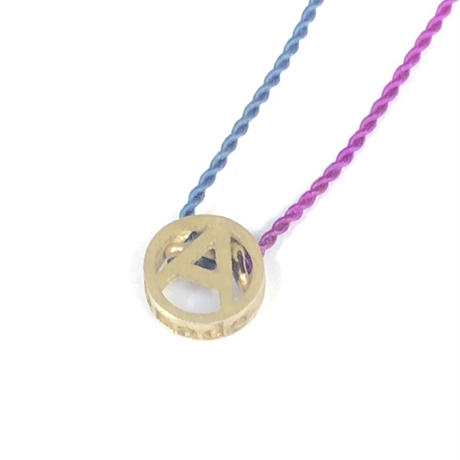 PHINGERIN / Tiny A Necklace (purple x navy) (Blend)
