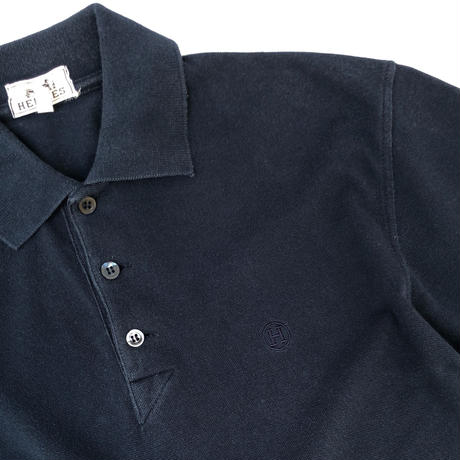 "HERMES /  ""H"" S/S Polo Shirt  (navy) (spice)"