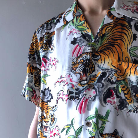 WACKO MARIA x TIM LEHI / S/S HAWAIIAN SHIRT (type-2,white)